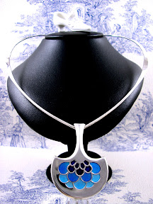 David Andersen Silver Necklace Enamel Thors Hammer Torque