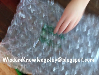 Have fun using bubble wrap to study music.