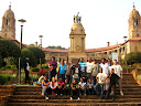 """We also were able to take the group to see the """"Union Buildings"""" (kind of like the senate and the White House in one) in the capitol city."""
