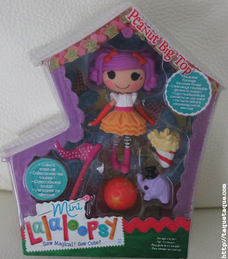 mini Lalaloopsy Peanut Big Top en su caja