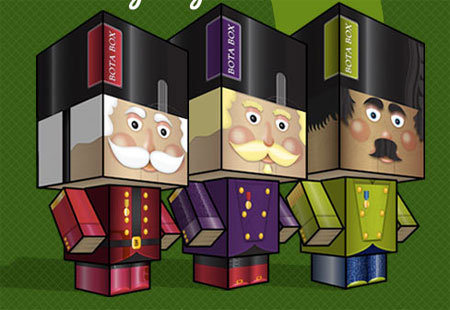 Bota Box Nutcracker Paper Toy