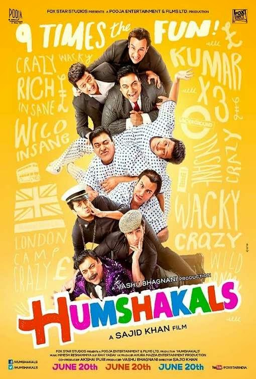Poster Of Hindi Movie Humshakals (2014) Free Download Full New Hindi Movie Watch Online At Alldownloads4u.Com
