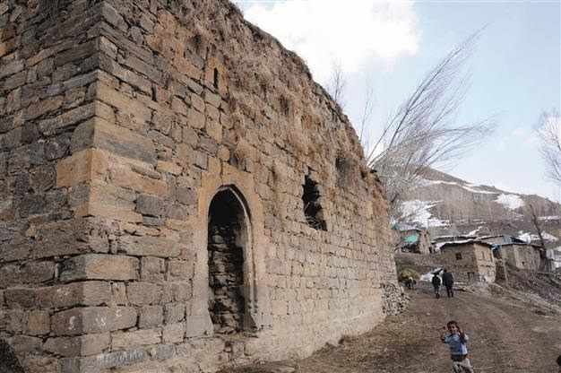 Near East: Byzantine church in eastern Turkey used as stable