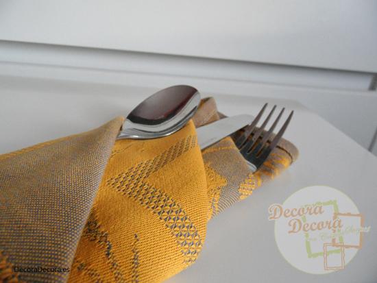 Idea para doblar las servilletas.