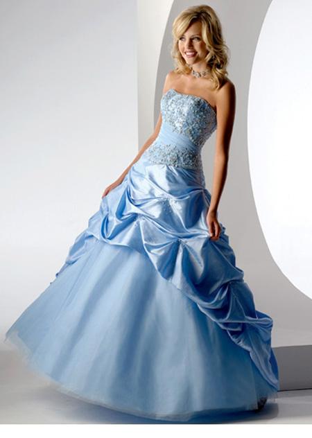 ball kleider - blauen Kleid - schöne kleider