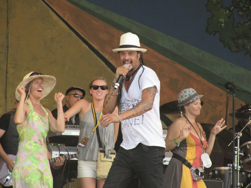 Michael Franti at Jazz Fest