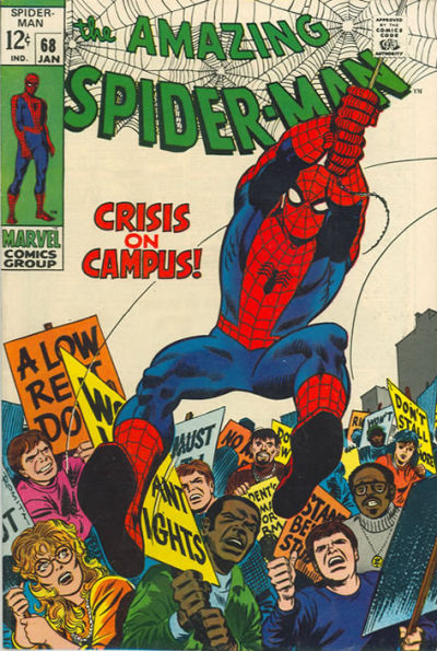 Amazing Spider-Man #68, John Romita, student riots and the Kingpin