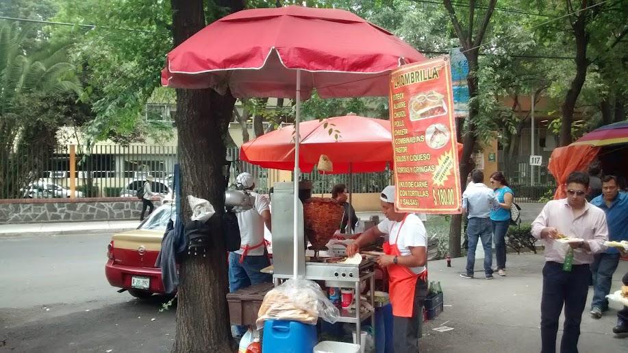 tacos pastor, df, cuauhtemoc la sombrilla,