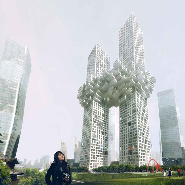Yongsan Residential Towers design by MVRDV