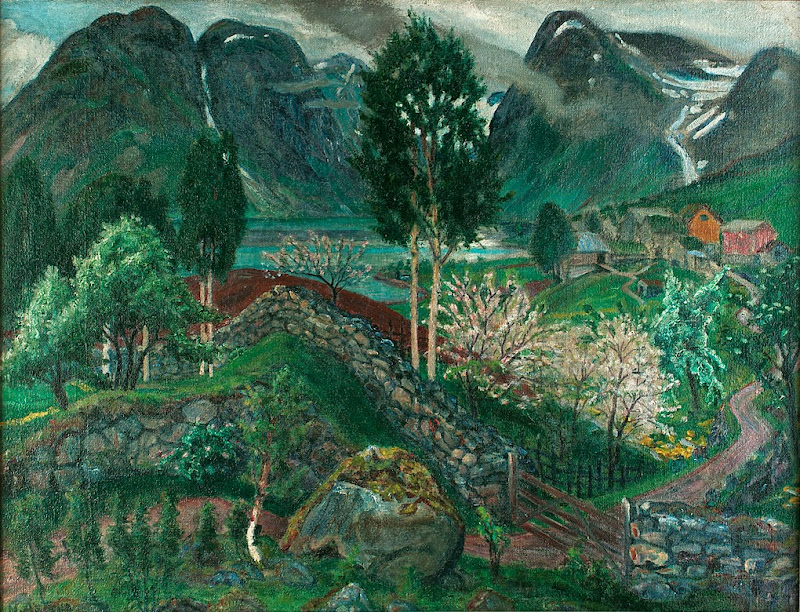 Nikolai Astrup - From Sunde, 1921