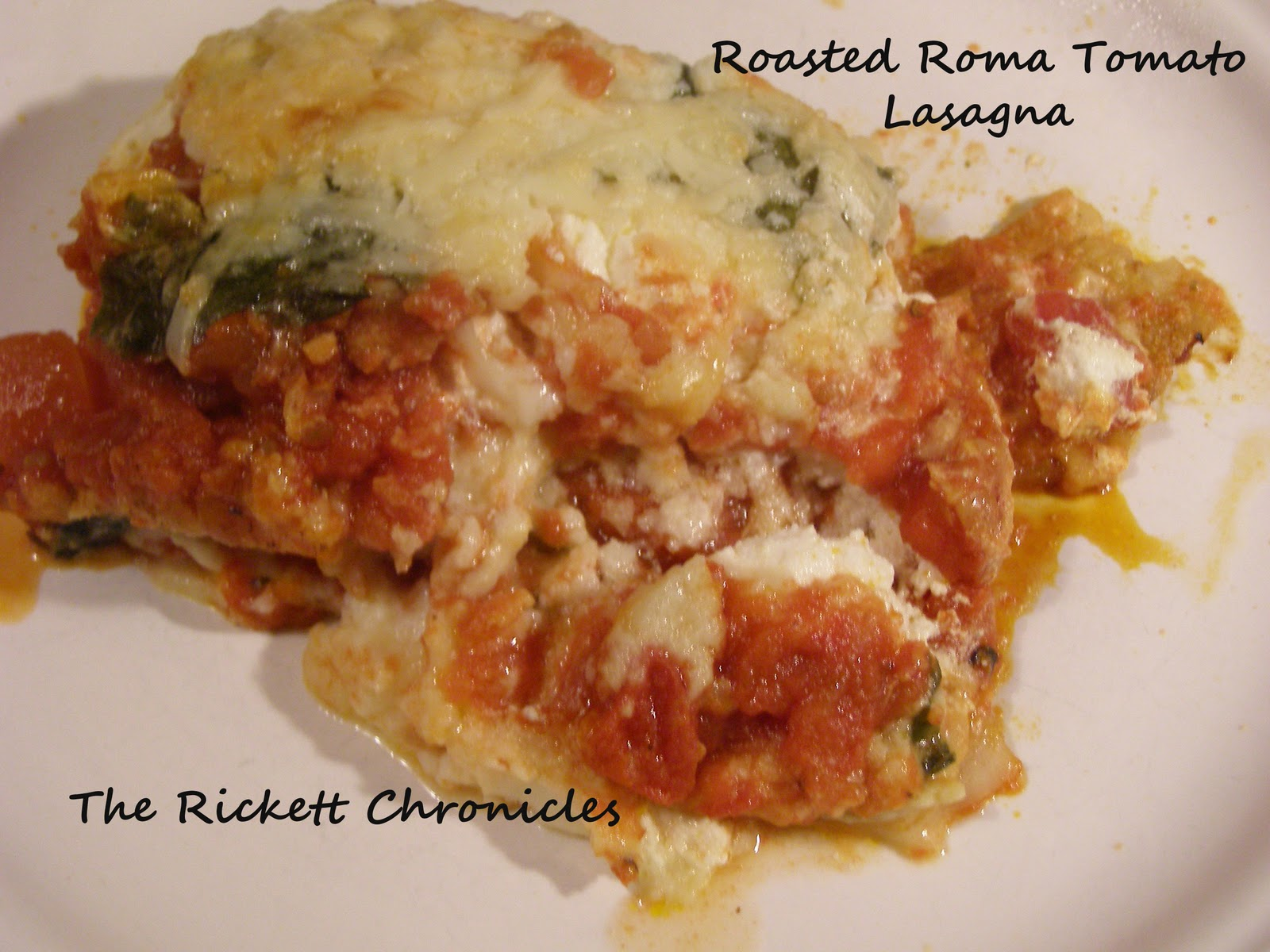 The Rickett Chronicles: Recipe Review: Roasted Roma Tomato Lasagna