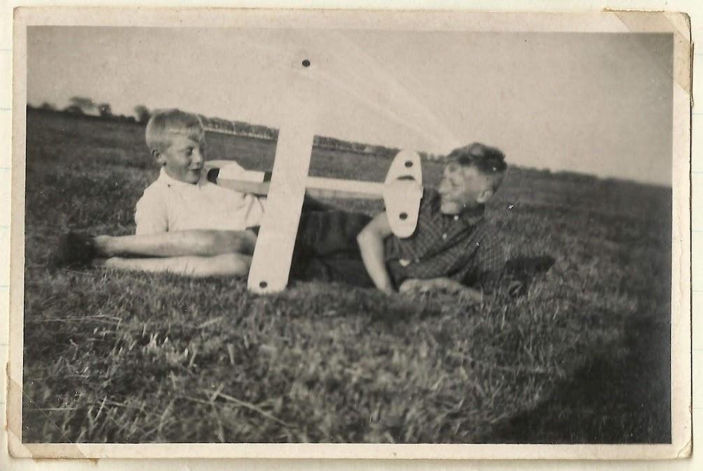 Oude foto met Piet en Egbert