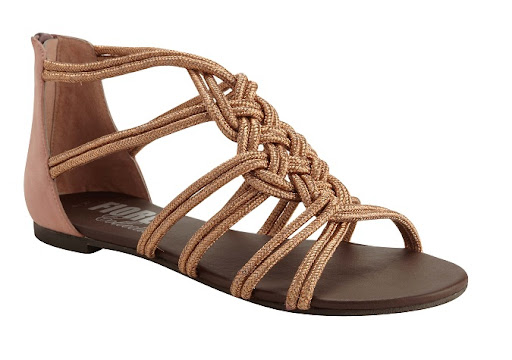 Matalan Metallic Gladiator Sandals