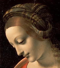 LEONARDO da Vinci Madonna Litta (Mary's face) c. 1490-91