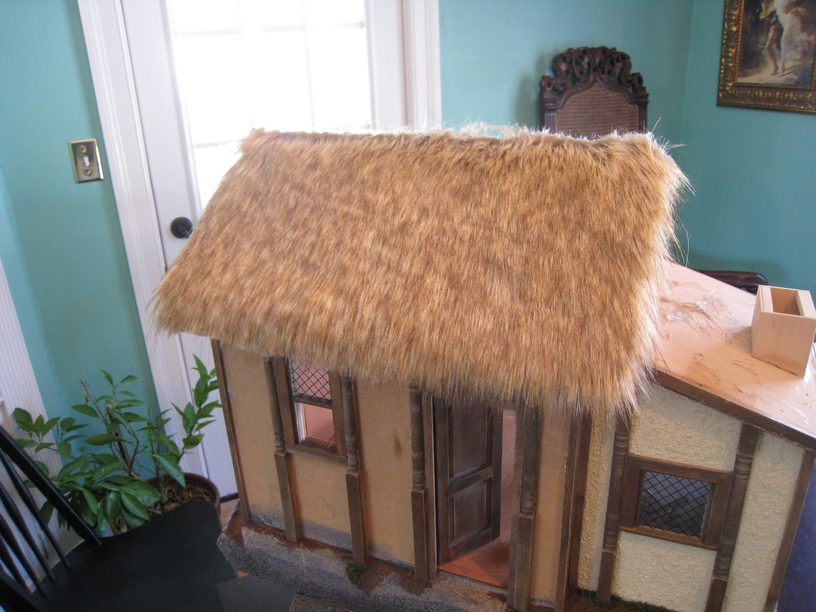 2 rolls New Dolls House Thatch Material