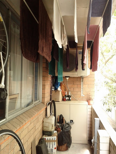 Heavy load of towels, drying