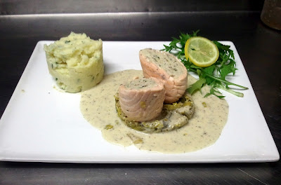 Ballotine de saumon farcie au mérou - recette indexée dans les Poissons