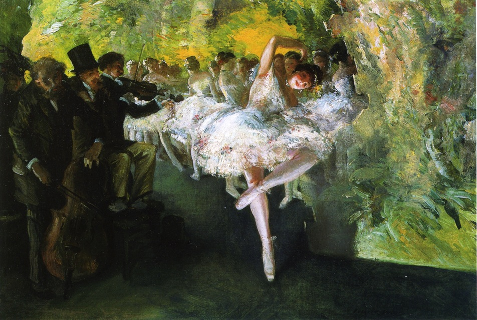 Everett Shinn - Rehearsal of the Ballet
