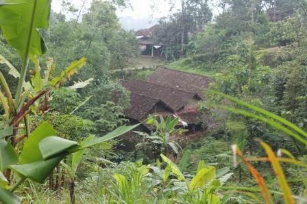 Beberapa perumahan warga di Desa Umbulrejo, Kec Jogorogo, Ngawi lokasinya tepat dikaki bukit Gunung Lawu