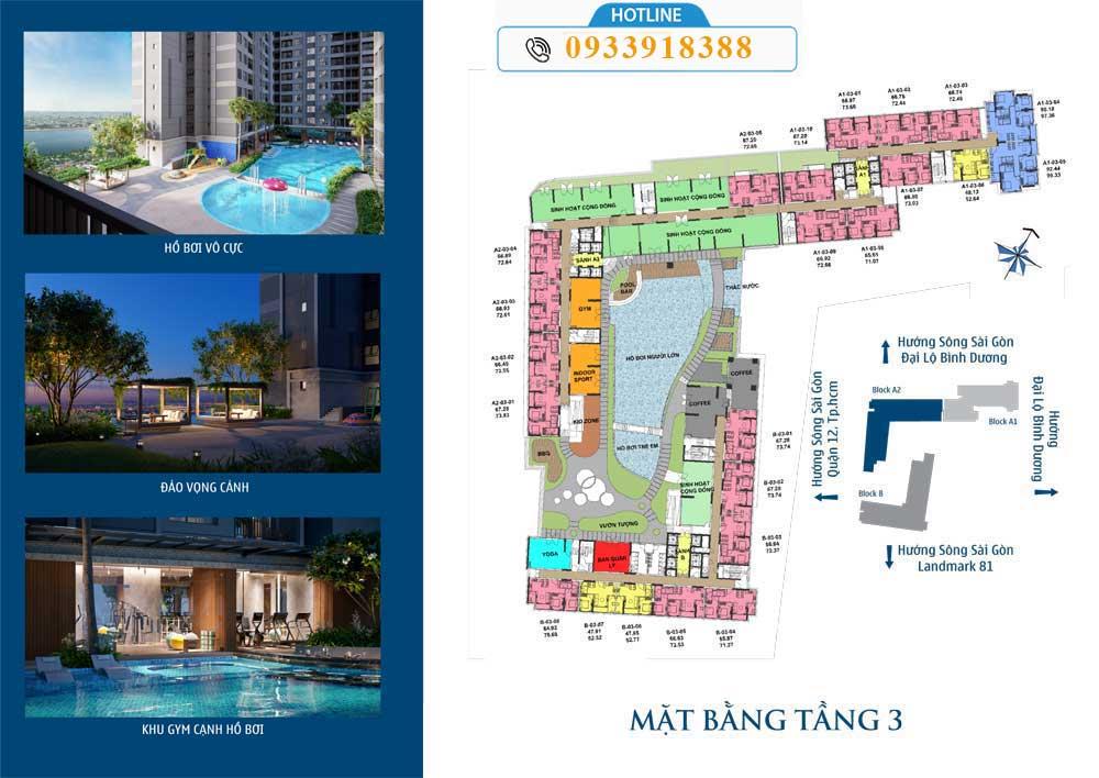 mat bang tang 3 the rivana