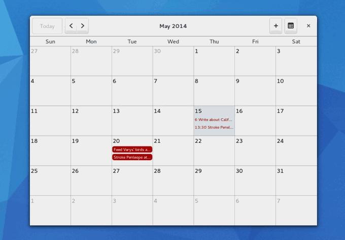 California, el gestor de calendarios de Yorba y Gnome con posibilidad de importar calendarios de Google Calendar