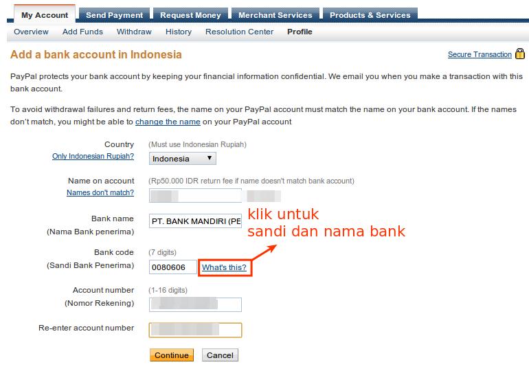 Verifikasi Paypal Menggunakan Bank Lokal 3