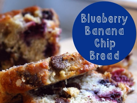 Blueberry Banana Chip Bread