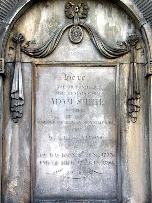 Adam Smith's Grave in Edinburgh