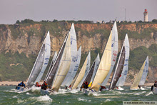 J/80 one-design sailboats at Normandy Sailing Week, France