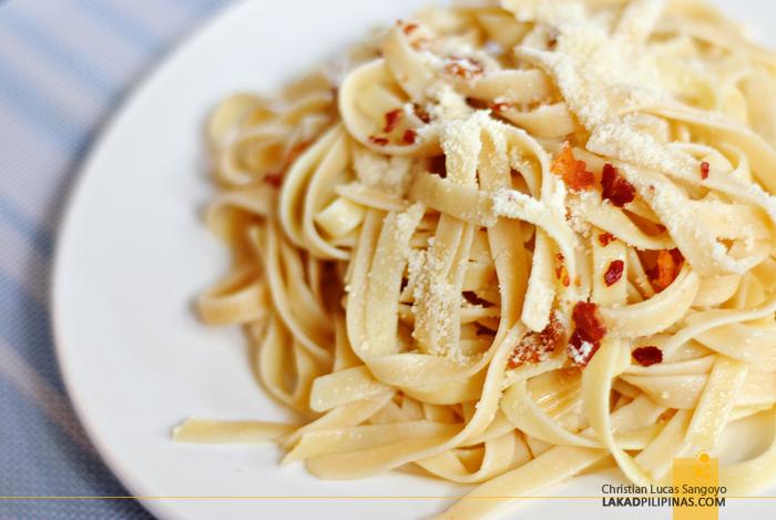Pasta Carbonara at Dumaguete's Sans Rival Bistro