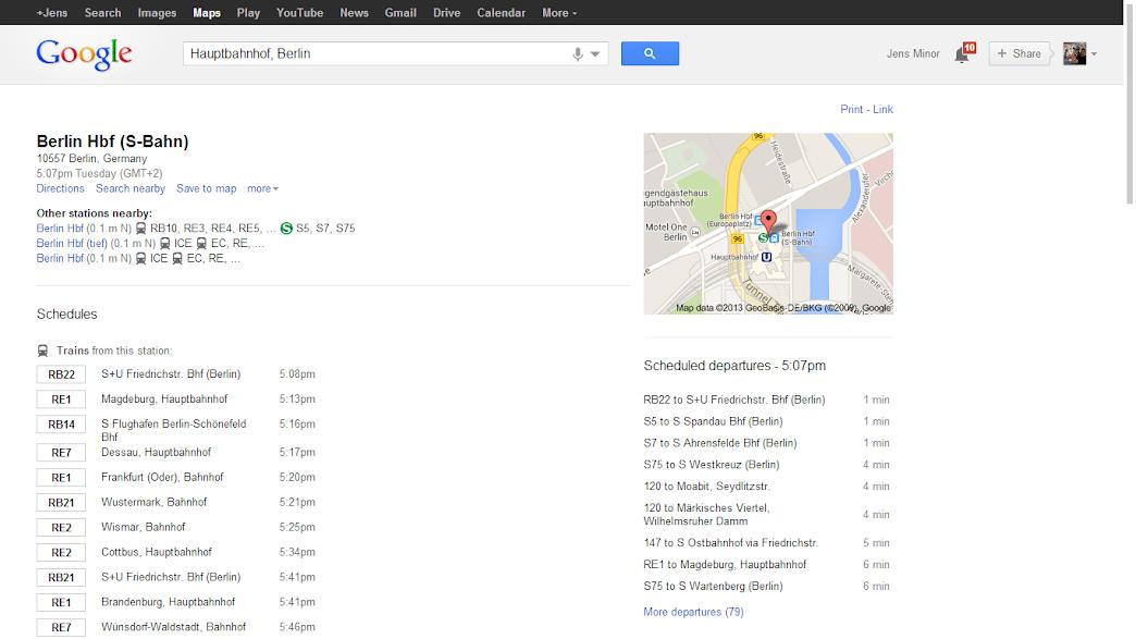 Google Transit Berlin