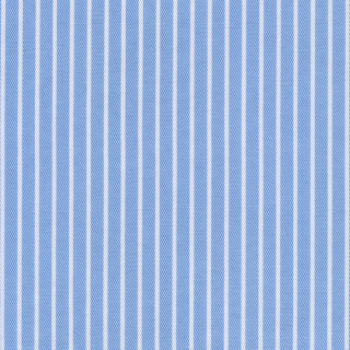 Custom Made Blue with White Stripes Shirt 100% Cotton