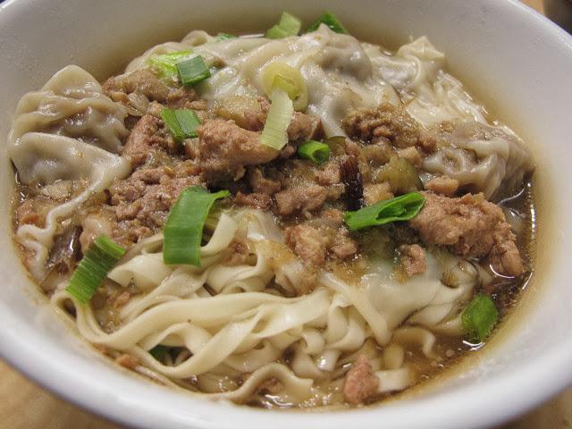 餛飩麵-乾 (大) NT 50元-世紀小吃店