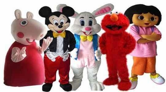 Personajes infantiles para fiesta de niños