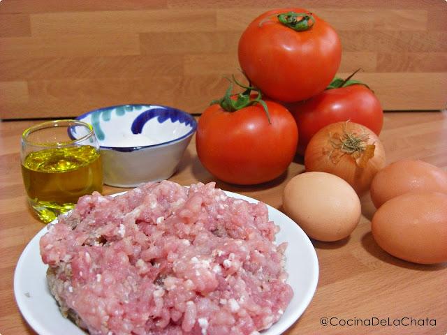 Ingredientes para tomates rellenos