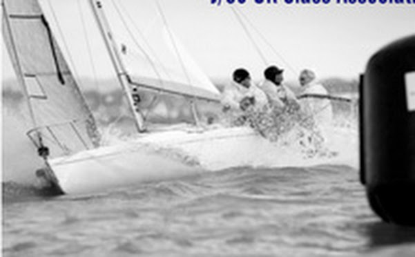 J/80 sail-training in England on Solent off Cowes