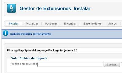 Traducir Phoca Gallery al español