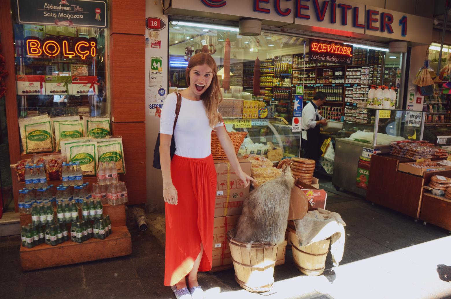 marita shopping in istanbul