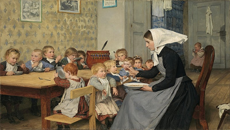 Albert Anker - The Crèche