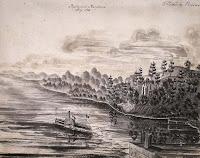 Papineau's residence, Ottawa River near Montebello  1856