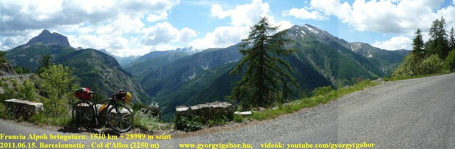 Györgyi Gábor & Francia Alpok kerékpártúra, Col d'Allos