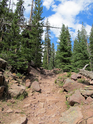 Climbing up toward Grandaddy Lake