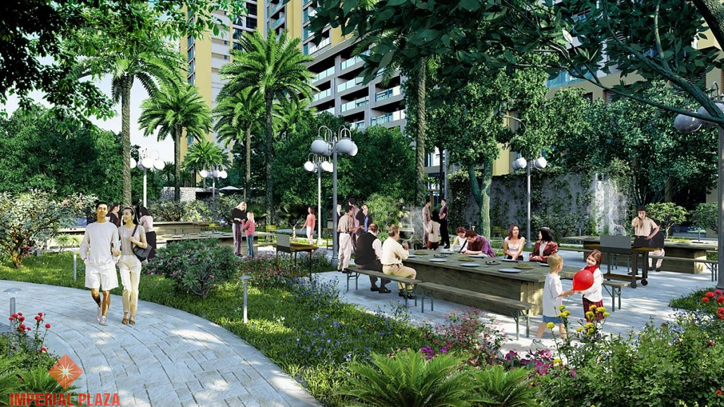 Khuôn viên xung quanh dự án Imperial Plaza