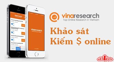 Vinaresearch - khảo sát trực tuyến và kiếm tiền online