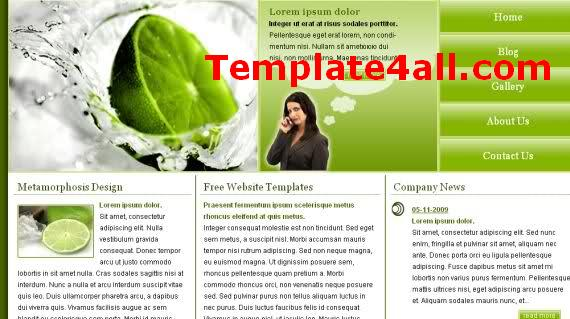 Free HTML Lime Green Nature Website Template