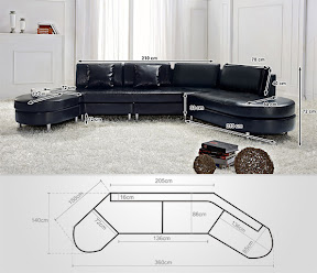 modern sectional sofa black leather