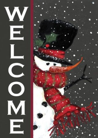 Toland Home Garden Snowman Christmas Welcome Flag