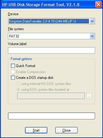 hp usb disk storage format tool v 2.1.8 gratuit