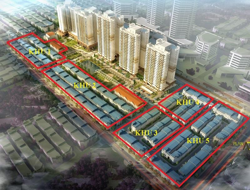 Khu liền kề và biệt thự chung cư The K Park văn Phú