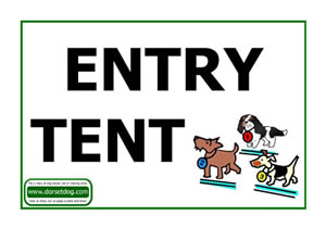 Dog show Entry tent sign A4 PDF